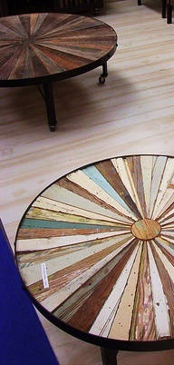 neat tables- made from old wood