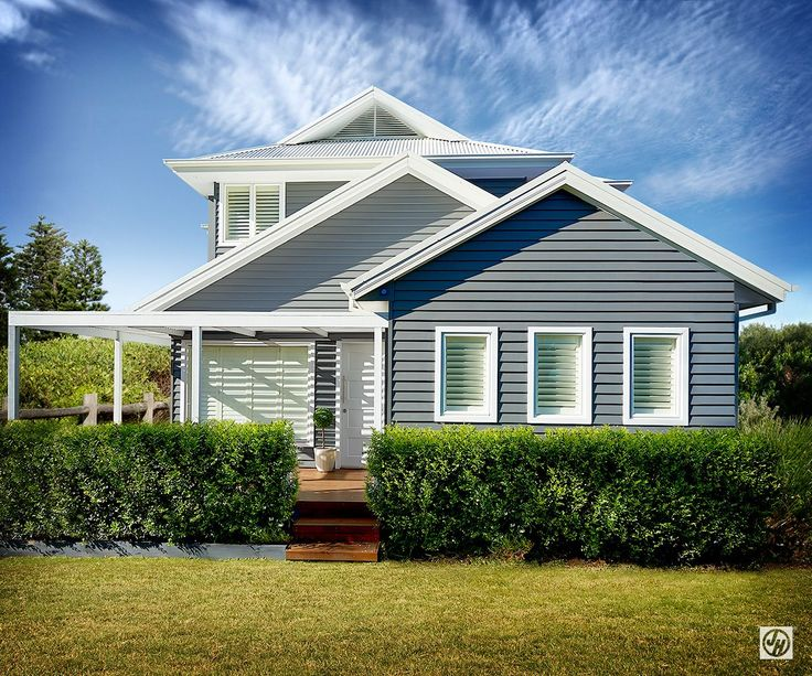 Modern weatherboard house facades google search home for Weatherboard garage designs