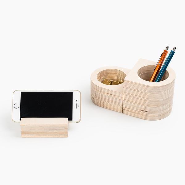 Wooden Desk Organizer