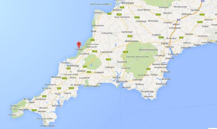 cornwall map tintafel - Google Search