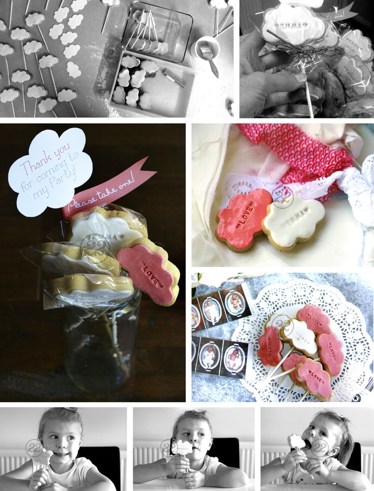 Cute cookies/favors for a shabby chic 'Sky' themed 1st birthday party