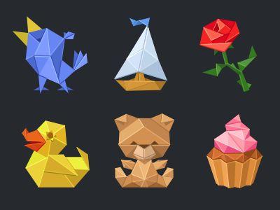 Origami set for IMO Messenger by Denis Sazhin