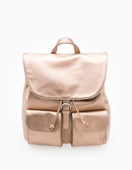 At Stradivarius you'll find 1 Metallised backpack for woman for just 19.95 €…