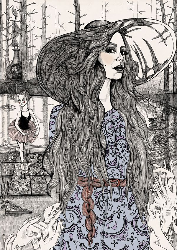 Swedish Illustrator Lindalovisa Fernqvist. Reminds me a little of russian fairytales