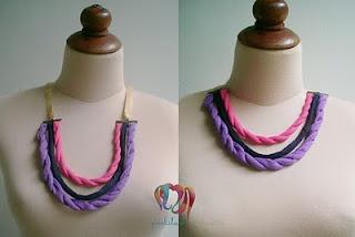 pink blue purple, necklace