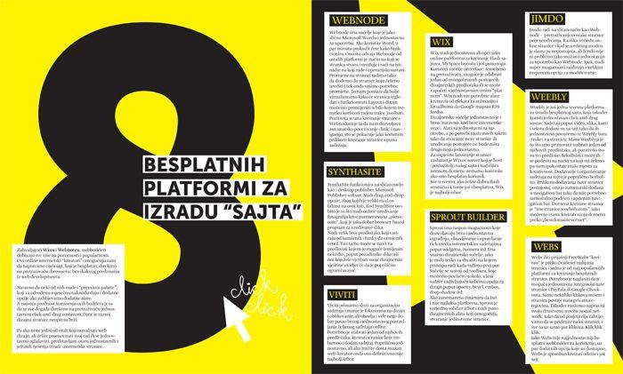 magazine layout ideas | magazine layout layout for an article about web platforms