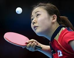 London Olympic Table Tennis - Sports Jagat With two ping pong individual men and women gold awards in side.
