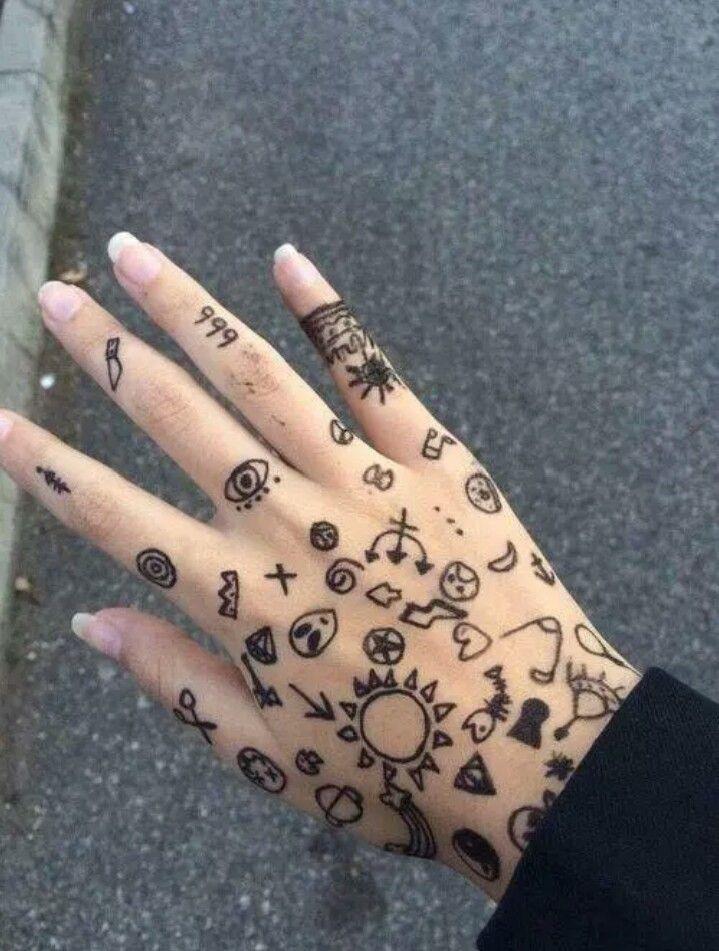 крутые рисунки на руке гелевой ручкой отзывам