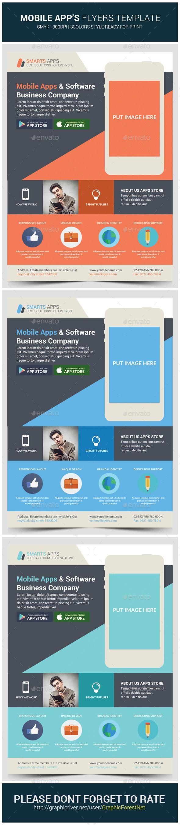 139 best Mobile App Flyer images – Azure Flyer Template