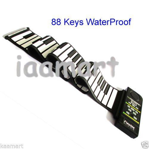 Roll up flexible Waterproof 88 keys Piano with Midi interface standard piano