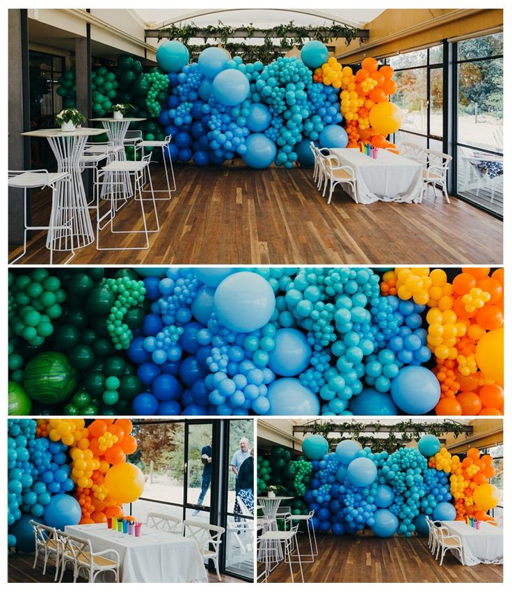 Best 25 balloon garland ideas on pinterest party for Balloon decoration on wall for birthday