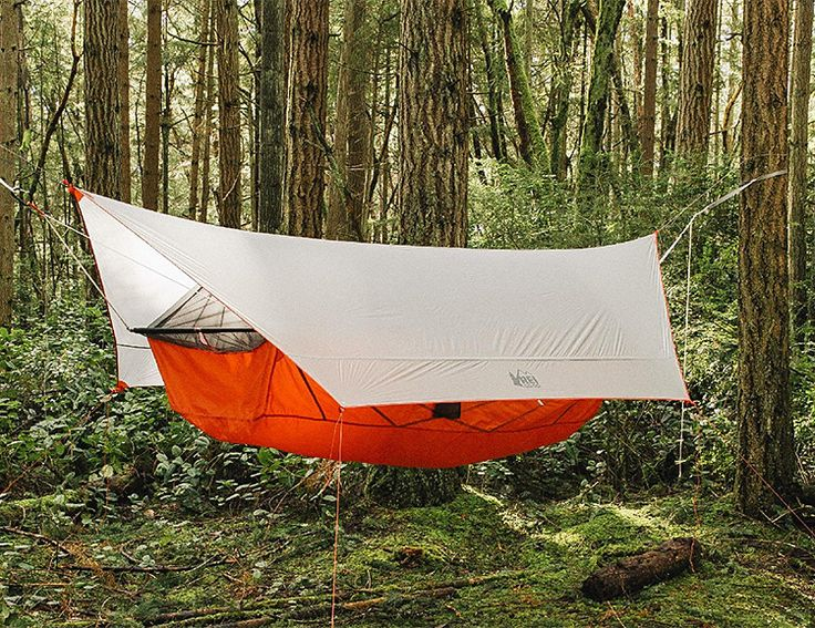 Combining the comfort and versatility of a hammock with the bugbite-reducing and weatherproofing features of a tent, REI's Quarter Dome Air is a 3-season hanging 1-person tent that gives you the best of both with the option to just run it as a hammock anytime. With a tension based interior that needs no center pole, it offers a rainfly with plenty of overhead storage yet it weighs just 3.2 pounds.
