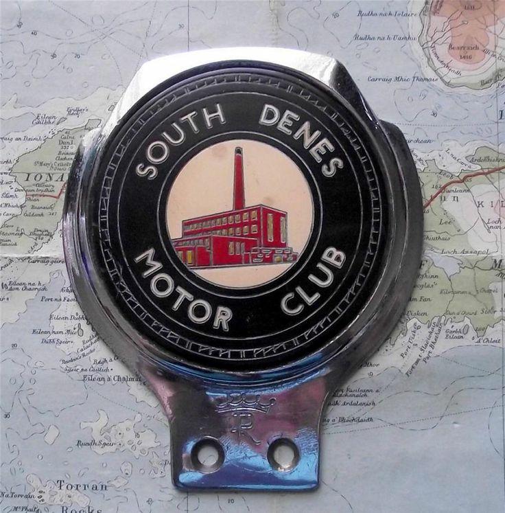 Genuine Vintage Car Mascot Badge : South Denes Motor Club by Renamel