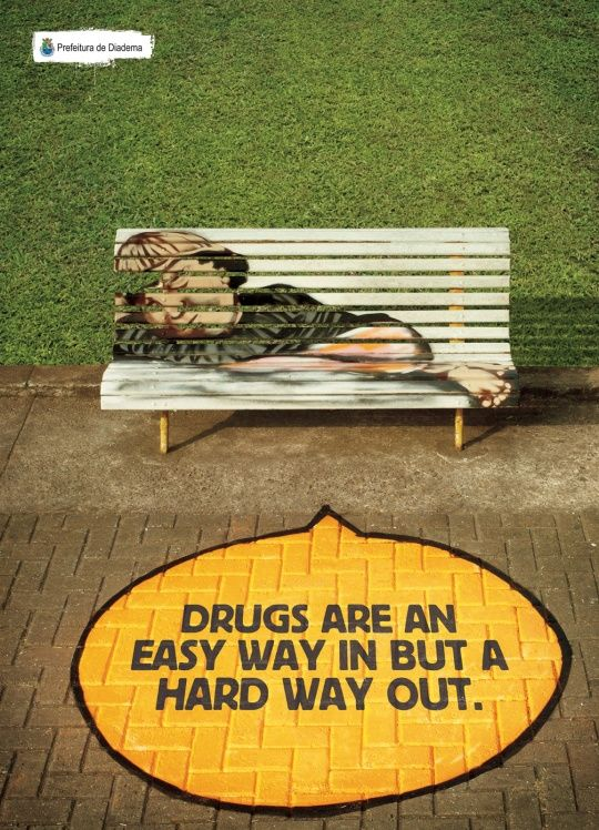 Creative Outdoor Ads  Diadema City: Drugs, 2 by Paz