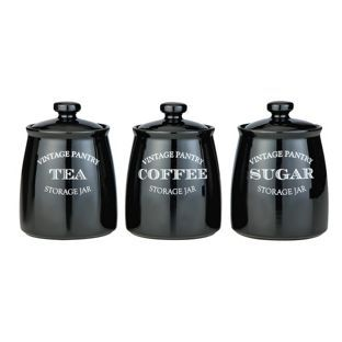 Buy Eve Traditional Set of 3 Storage Jars - Black at Argos.co.uk - Your Online Shop for Storage sets and utensil holders.