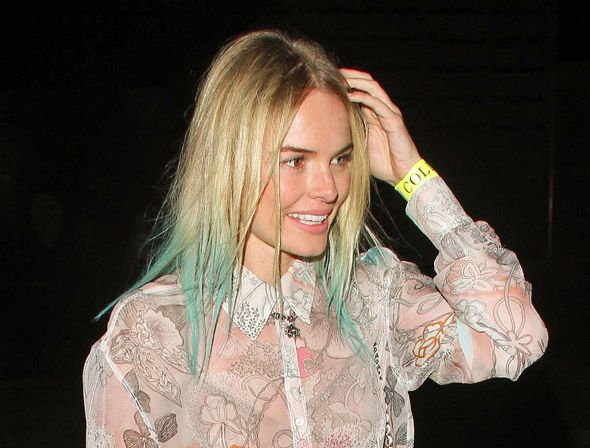 pastel: Hair Colors Ideas, Dips Dyed, Celebrity Hair Colors, Kate Bosworth, Blue Highlights, Blue Tips, Colors Blue, Pastel Hair, Hair Looks