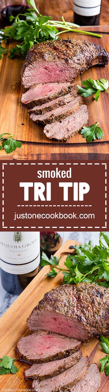 Smoked Tri Tip | Easy Japanese Recipes at http://JustOneCookbook.com