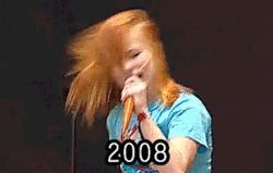 Hayley headbanging throughout the years