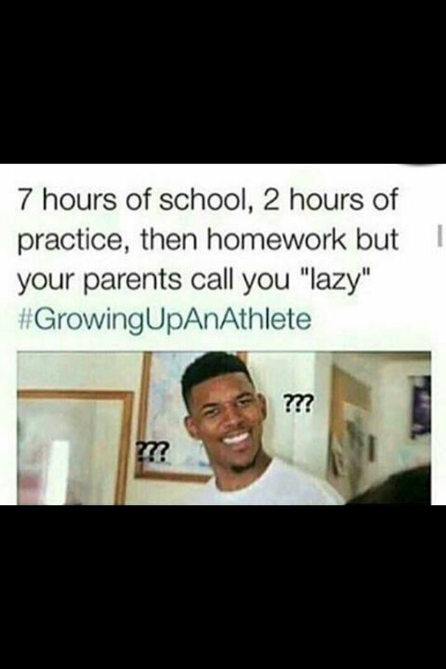 It's not growing up as an athlete. It's growing up as a student.