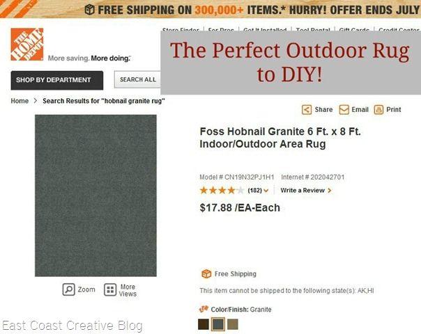 cheap outdoor rug