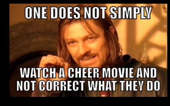Watching bring it on where high school cheerleaders are allowed to do level 6 stunts