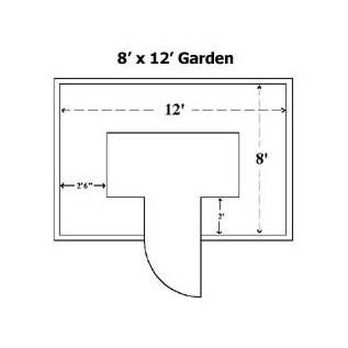 "Plans for a raised bed enclosed garden with a gate. this would be nice.     ***Made with solid cedar*** The 8'x12'x20"" garden provides approximately 65 square feet of planting space,"