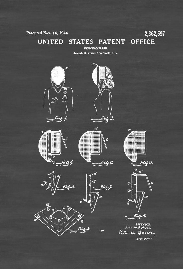 New to PatentsAsPrints on Etsy: Fencing Mask Patent - Patent Print Wall Decor Fencing Art Fencing Patent Fencing Gift Fencing Mask (4.99 USD)