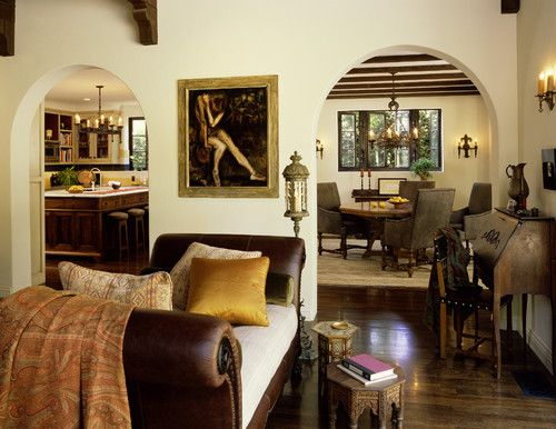 Tommy Chambers Interiors design in a classic 1930s Mediterranean-style LA home.
