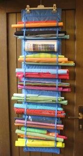 hanging storage unit #sew #sewing #diy #howto #tutorial #fabric #organize #storage
