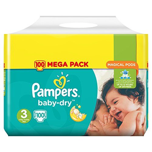 Pampers – Baby Dry –… http://123promos.fr/boutique/bebe-et-puericulture/pampers-baby-dry-couches-taille-3-5-9-kgmidi-mega-pack-x100-couches/