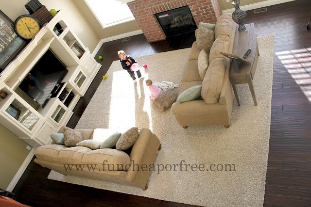 Create your own extra large or custom size area rug - buy carpet by the foot from a wall-to-wall carpet dealer and have them bind the edges