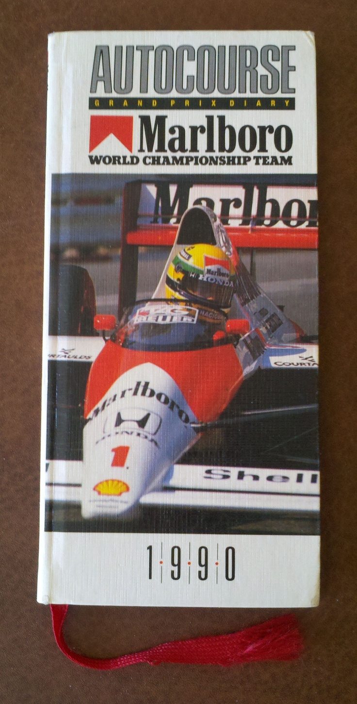 I wish Autocourse still published these nifty little datebooks.  It contains track layouts, the F1 schedule for the year, driver profiles and a full calendar for the year where you could mark your appointments.  Of course, that is Senna on the cover in his Marlboro McLaren.