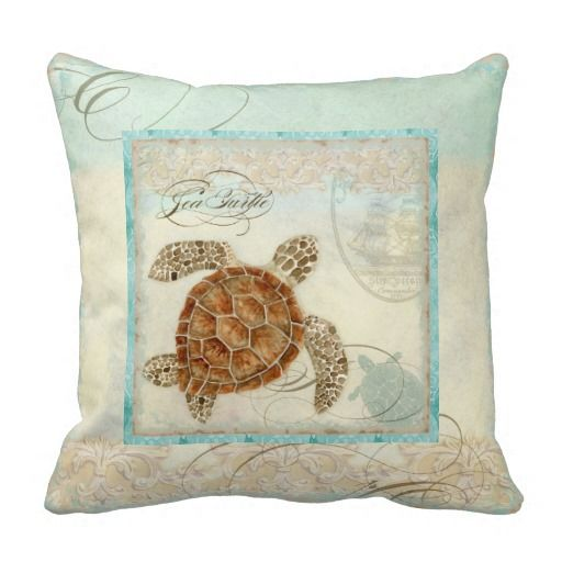 Sea Turtle Coastal Beach - Home Decor Pillow