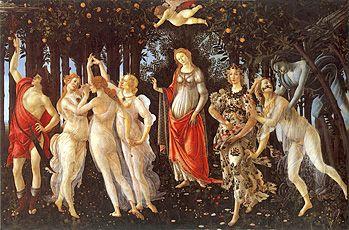Le Printemps, vers 1482, Sandro Botticelli, Florence, musée des Offices