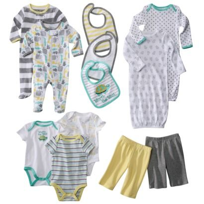 Circo® Baby Layette Collection                   Target actually makes PJ's that zip from the feet up so you don't have to undress your baby to change the diaper!! very cool