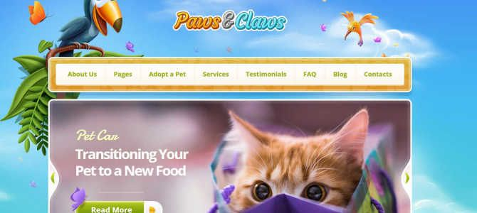 Pet WordPress Theme PAWS & CLAWS