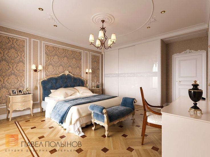Фото: Дизайн спальни - Квартира в классическом стиле, ЖК «Привилегия», 135 кв.м.