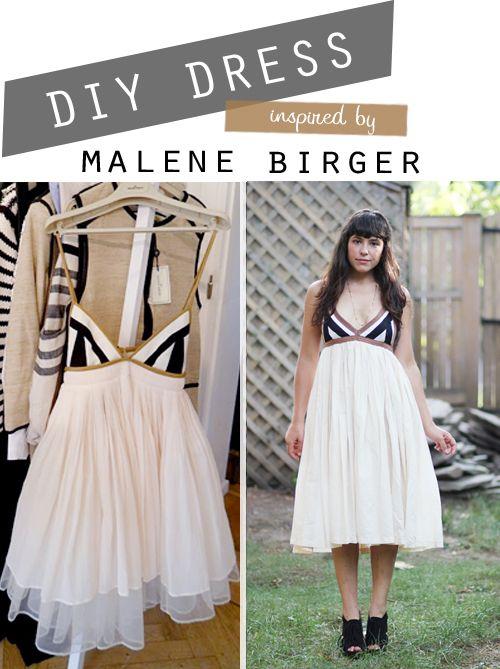 DIY: malene birger inspired dress