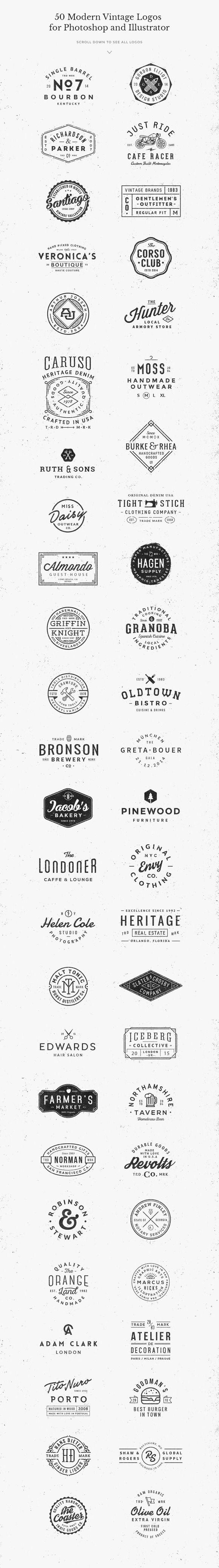GraphicBurger - 50 Logo Templates Bundle