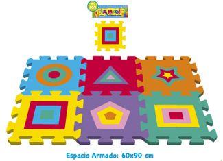 Set piso goma eva figuras geometricas