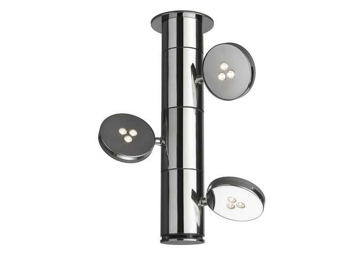 #Torno. It's all in the name. A multi-flexible, column-mounted, rotating LED spot light, directing the light in any way desired. by #Lirio