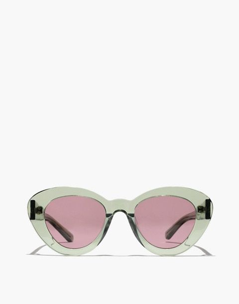 6d1060bc43cc Madewell x Karen Walker® Argentina Sunglasses in crystal khaki image ...