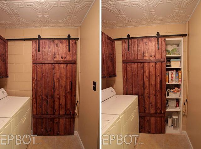 Sliding wood barn door cheap diy upgrades misc ideas for Cheap sliding barn doors