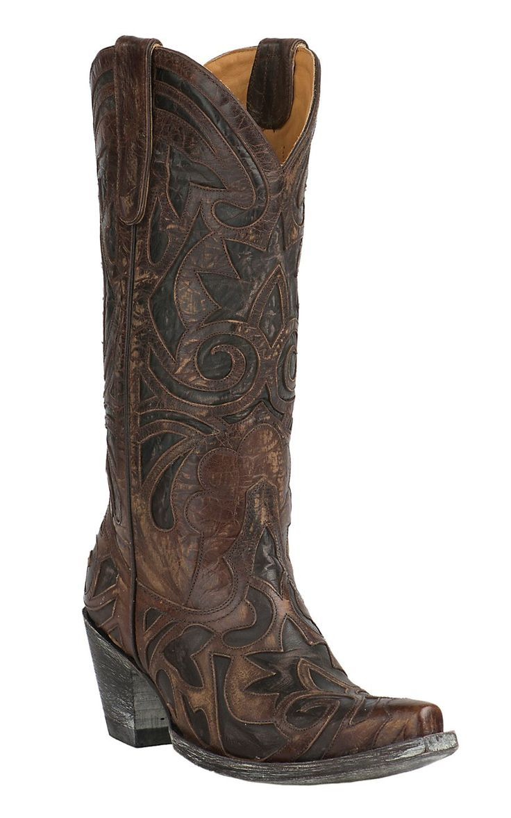Old Gringo Women's The Greeks Brass with Chocolate Inlay Snip Toe Western Boots | Cavender's
