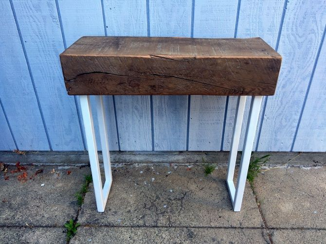 Rustic Timber Console Table - Ambrose Woodworks
