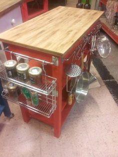 Mesa Auxiliar De Cocina Isla De Cocina Con Barral Cromado - $ 999,00 en MercadoLibre