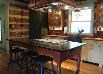1000 images about primitive likes on pinterest for Log cabin kitchens and baths