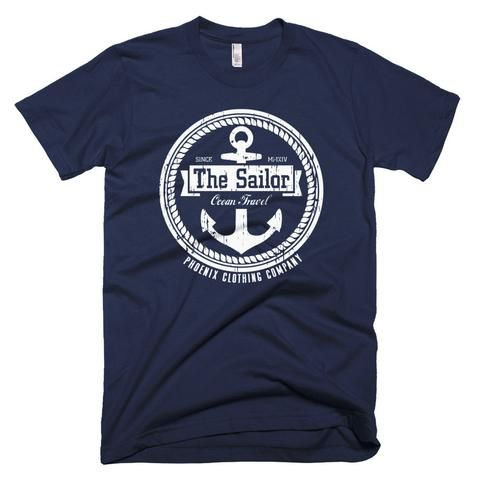 The Sailor White Print T-Shirt