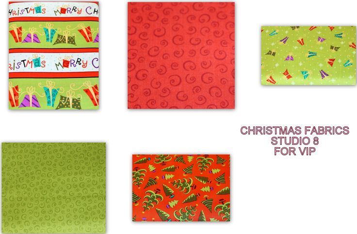 HALF Yard Bundle Christmas Fabric Bundle for Studio 8 for VIP 100% Cotton Quilt Apparel Craft Christmas Trees Presents Swirls by JacobandChloesLLC on Etsy