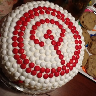 Pinterest cake for our pinterest party!